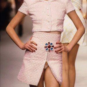 Chanel Vintage Spring 1995 Pink 95P Mini Skirt
